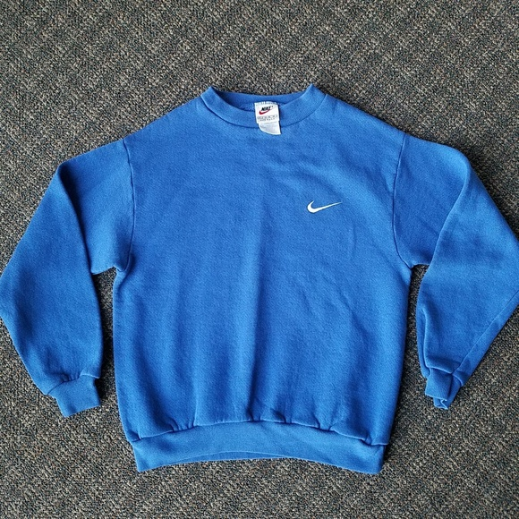 956bc499f4cd6 Vintage Nike Crewneck Sweatshirt USA Blue Youth M